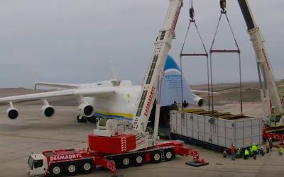Agencia Sesnich lideró con éxito operación multimodal en avión de carga más grande del mundo: el Antonov AN 225