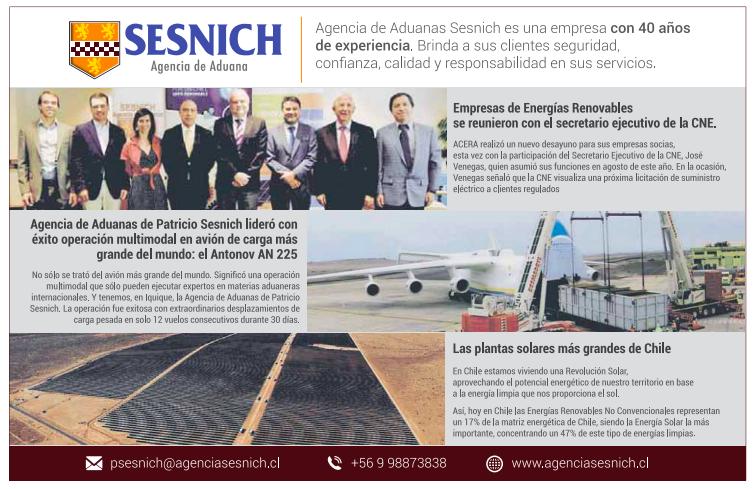 Agencias de Aduanas Sesnich destaca en reportaje especial de LT
